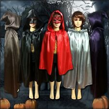 Children Kids Stain Cape Hooded Halloween Costumes Fancy Carnival Witch Cloak