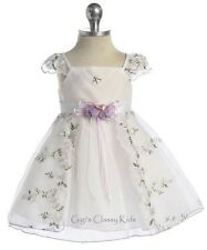 New Baby Flower Girls White Lilac Dress Christmas Easter Party Pageant CB505