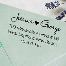 Unmounted Return Address Rubber Stamp Wood Mounted Personalized Wedding Stamp