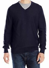 IZOD Mens Sweater Fine Gauge V-Neck Midnight Long Sleeves Cotton size XXL NEW
