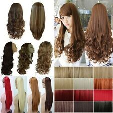 UK shipping sexy long fashion straight/curly 3/4 full wigs half wig hair cosplay