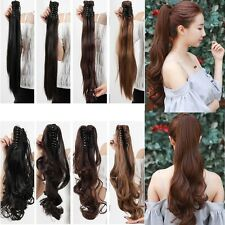 Real Natural Clip in Pony Tail Hair Extensions Claw on Ponytail Hair Piece sk21