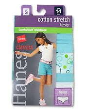 Hanes Classics Girls Cotton Stretch Hipster with ComfortSoft Waistband, GNCS40