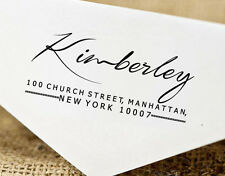 Custom Return Address Stamp Pre-Inked Calligraphy Personalized Stamper