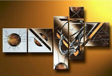 2016-NEW-5 pieces Modern Abstract Art Hand-Painted Oil Paintings Lovers dance
