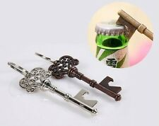 Metal Key Shape Ring Chain Keyring Keychain Beer Bottle Opener Party Bar Tools