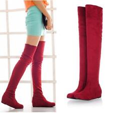 2016 Sexy Women Flat Bottom Boots Shoes Over The Knee Thigh High Long Boots S