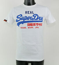 SuperDry T-Shirt - MS1IX071F1 01C VINTAGE LOGO TRI-COLOUR ENTRY - white + new +