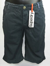 SuperDry Vintage Washbasket Bermuda Shorts MS7IE049F2 Black NEW Size S-M