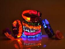 Flashing Safety Collar New LED Light Adjustable Pet Dog Nylon Light Up for
