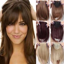 Straight Front Bangs Fringe Piece Clip In Hair Extensions Real Natural Hair