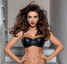 Luxury Balconette Balcony Bra Black Sexy Exclusive Lingerie V-6351 Piment Axami