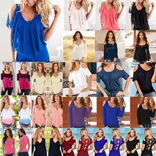 Sexy Women's Loose OFF Shoulder Tops Casual Blouse Fashion T-Shirt Pullover NEW