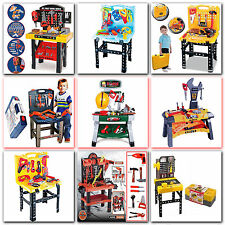 Xmas Kids Toy Work Shop Role Play Diy Builder Tool Bench Construction Kit Large
