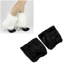 Fluffies Fluffy Furry Leg Warmers Boots Covers Rave Furries Black FK