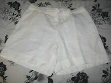 Lane Bryant White Linen Shorts with Tie Belt choose size 18/20 22/24 26/28