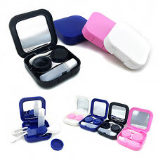 Portable Contact Lens Case Travel Kit Set Storage Holder Mirror Box Novelty