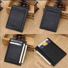 Men's Genuine Leather Wallet Slim Money Clip Credit Card ID Business Holder