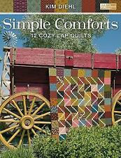 NEW Simple Comforts 12 Cozy Lap Quilts Quilting Book by Kim Diehl