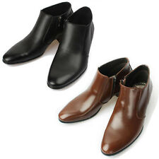 Mooda Mens Leather Zip Ankle Boots Classic Formal Lace up Dress Shoes Koony CA