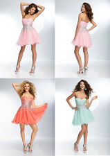 Beaded Strapless Homecoming Dress Mini Evening Dresses Pageant Party Cocktail