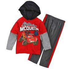 DISNEY CARS McQUEEN Hooded Shirt & Pants Clothing Track Set Outfit Size 3T  $24