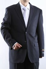 MENS TWO BUTTON SUPERIOR 100 NAVY DRESS SUIT, SML-60212S-60203-NAV