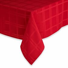 "BRAND NEW WINTER WONDERLAND HOLIDAY TABLECLOTH RED ROUND 70""/ 52""x70"""