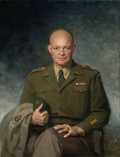Handcraft Modern Portrait Art Oil Painting on Canvas Decor DWIGHT D. EISENHOWER