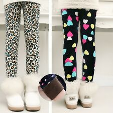 Winter Lovely Leggings Pants Kids Girls Cotton Children Thicken Pants Trousers