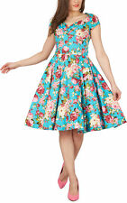 'Ruby' Vintage Divinity 1950's Floral Full Circle Rockabilly Swing Prom Dress