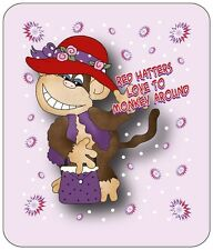 LONG SLEEVE PURPLE T-SHIRT FOR RED HAT LADIES OF SOCIETY HATTERS MONKEY AROUND