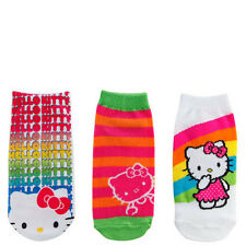 HELLO KITTY SANRIO 3-Pack Girls Low Cut Ankle No-Show Socks NWT Girls Ages 1-4