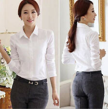 Blouse White Shirt Top Spring/Summer Hot Long Sleeve Shirt Stylish Women's New