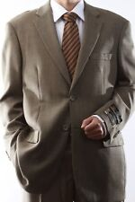MENS TWO BUTTON SUPER 140S WOOL TAUPE COLOR SPORT COAT, J44812S-882-TAU