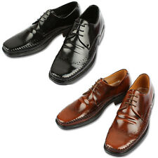 Mooda Mens Leather Wing Tip Shoes Classic Formal Oxfords Dress Shoes StoneL CA