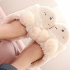 Cute Couple Sheep Warm Slippers Soft Plush Antiskid Shoes Indoor Home Slippers