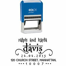 Custom Return Address Rubber Stamp Save The Date Pre-Inking Rubber Stamp
