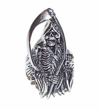 NEW Stainless Steel Grim Reaper Skull Biker Warcraft Men's Ring /Sons of Anarchy