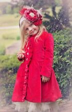 Magpie & Mabel - Christmas Holiday Heirlooms Velveteen Coat Retail $150