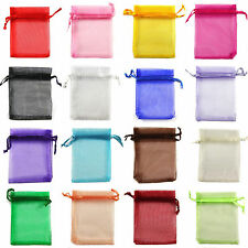 New 100PCS Sheer Organza Wedding Party Favor Gift Candy Bags Jewelry Pouches