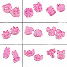 2 PCS Pink Cookie Fondant Cake Craft Chocolate Decorating Mould Cutter Mould