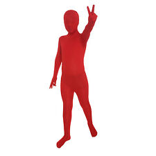 Childs Red Official Morphsuit Halloween Horror Fancy Dress Costume Age 8 - 12