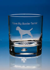 Border Terrier Dog Gift Personalised Engraved Whisky Glass: Choose Your Message