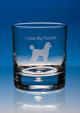 Poodle Dog Lover Gift Engraved Whisky Glass: Can Be Personalised