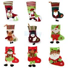 Christmas Stocking Xmas Tree Hanger Decor Sock Hanging Gift Present Sack Pocket