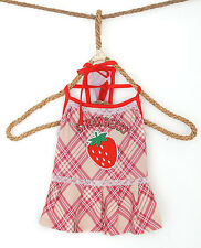 Pink Pattern Strawberry Adorable Dress For Small/Medium Dog Puppy Cat Pet (US)
