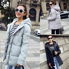 Women Winter Warm Down Cotton Jacket Hooded Coat Thicken Overcoat Trench Parka