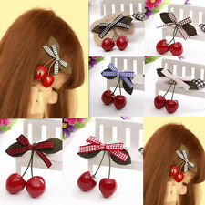 2pcs Baby Child Girl Hot New Hair Pin Clips Hair Accessories Cherry Hairpin