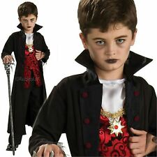 Childrens Royal Vampire Gothic Costume Boys Dracula Halloween Fancy Dress Kids